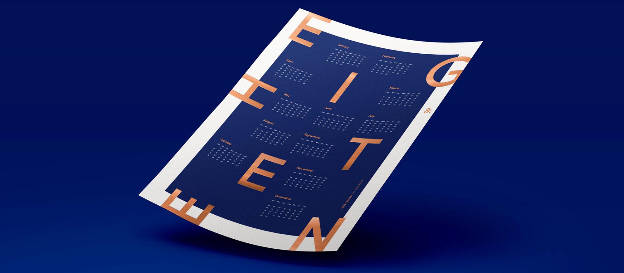 2018_calendar_triner_copper_letterpress